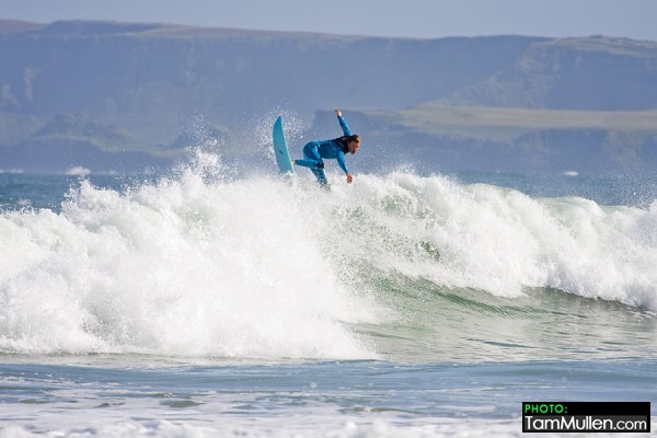 Finn Mullen Surfing at Whiterocks