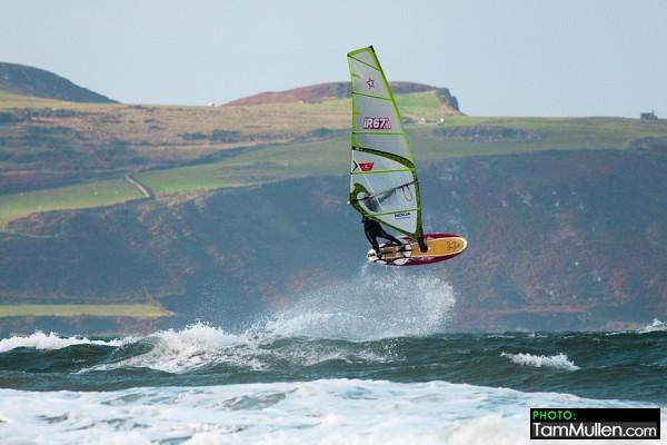 Finn Mullen Forward Loop Windsurfing at Benone Strand