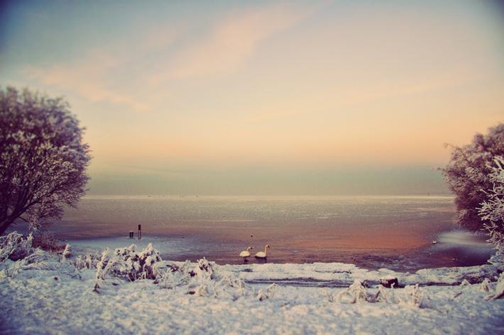 Christmas Day Ice Sunset