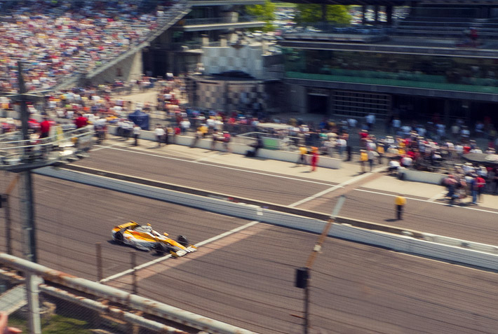 Ryan Hunter-Reay at the 2012 Indy 500 Pole Day